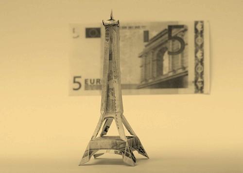оригами из денег (4)