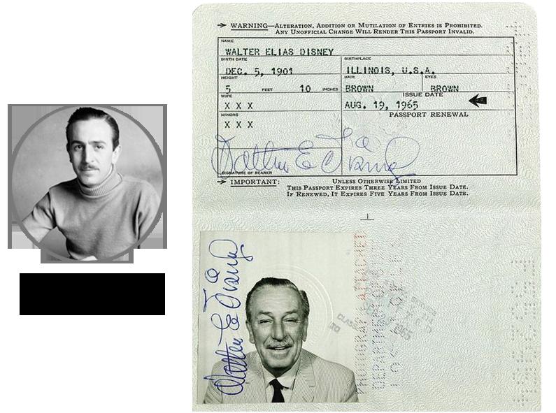 Паспорт Уолт Дисней