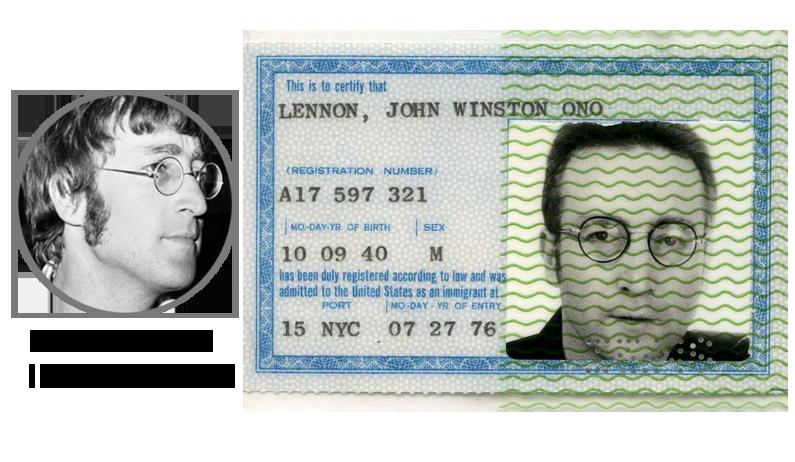 Паспорт Джона Леннона