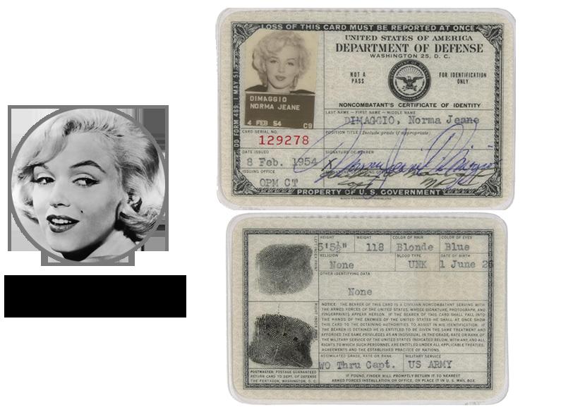 Паспорт Мерлин Монро